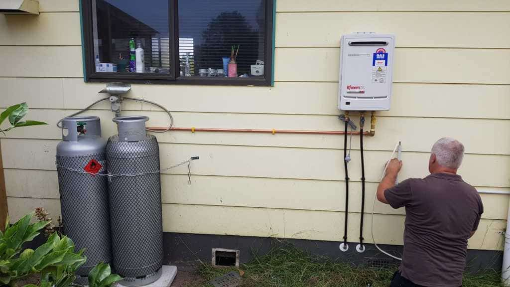 Outdoor LPG continuous flow mains water heater